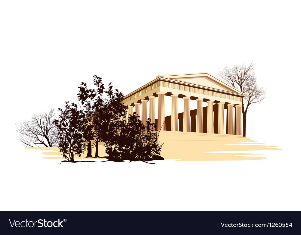 Ancient greece temple vector