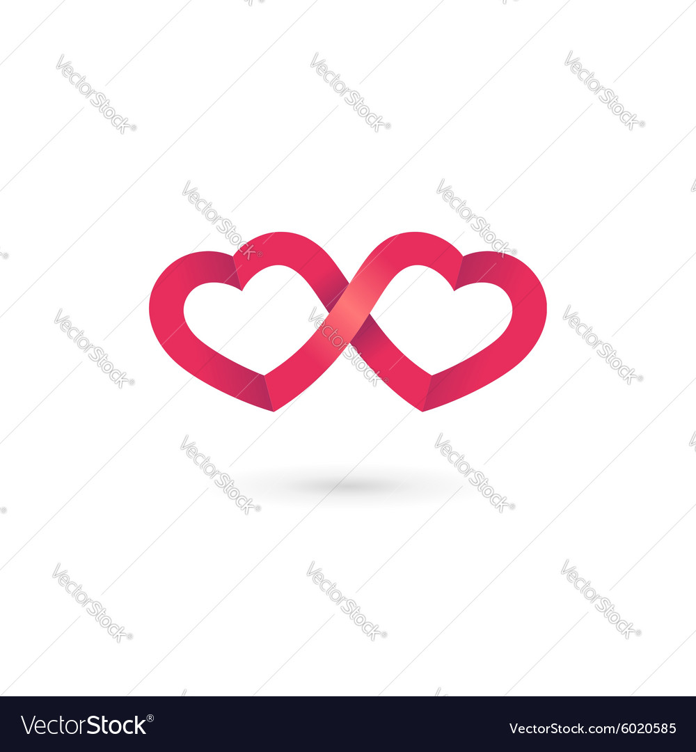 Heart infinity loop logo icon design template vector