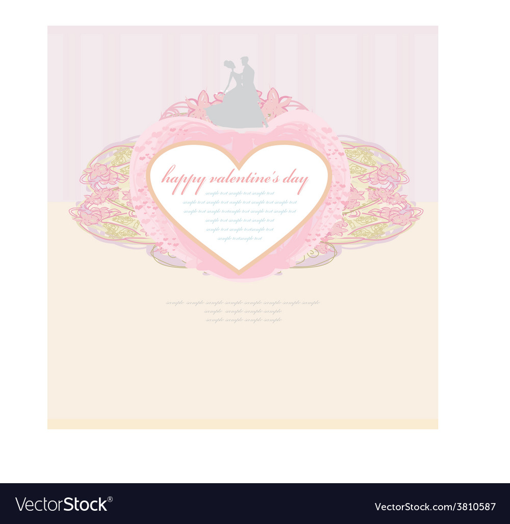 Ballroom wedding couple dancers  invitation vector