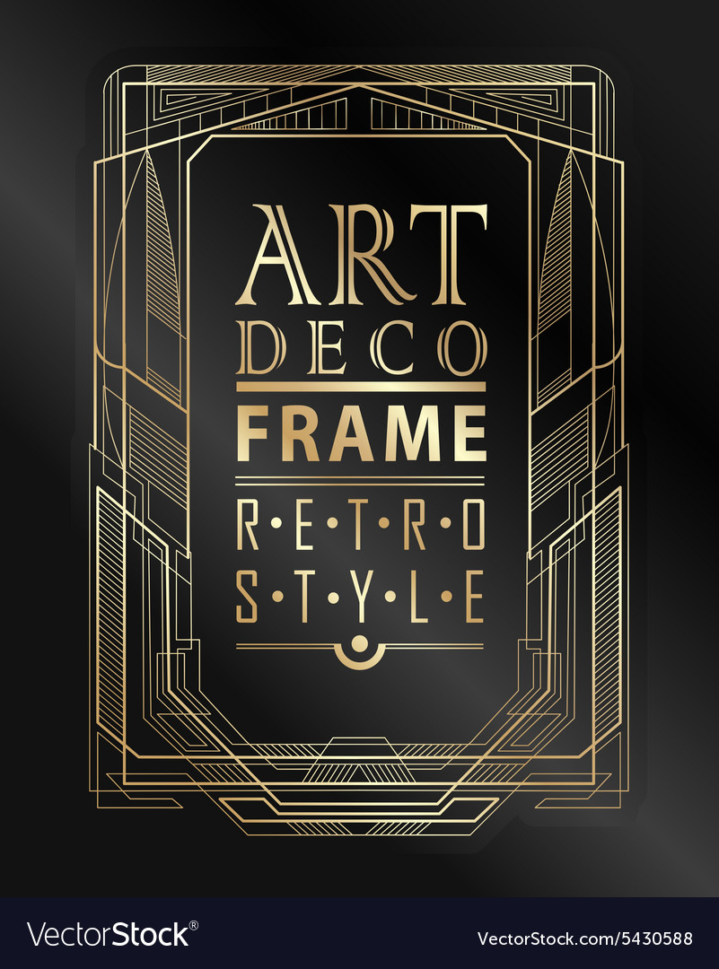Art deco geometric vector