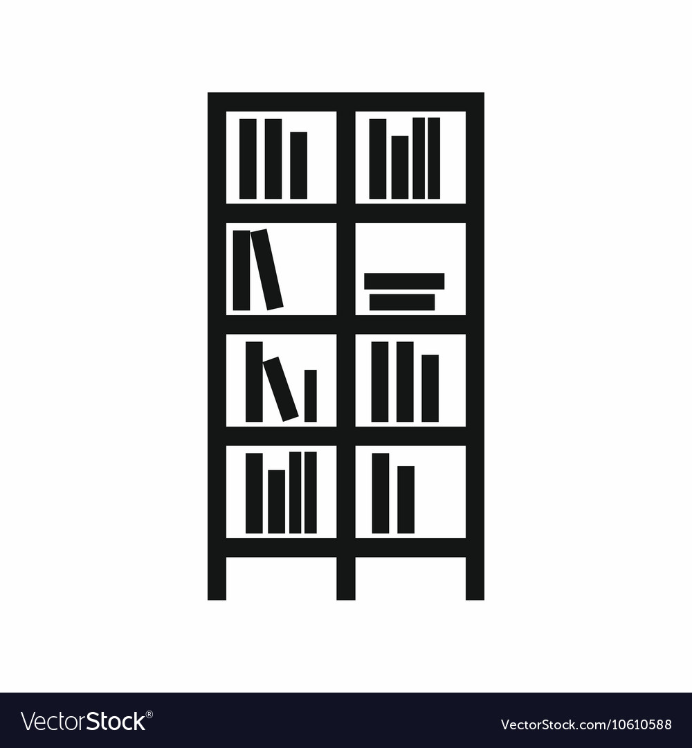 Bookcase icon simple style vector