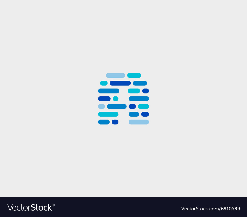 Abstract letter a logo dynamic code vector