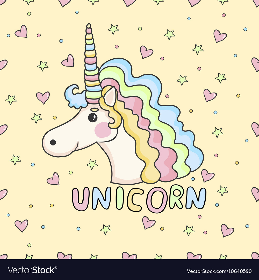 Funny pattern unicorn vector