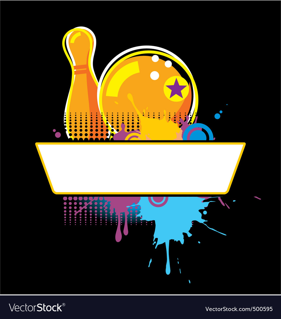 Bowling grunge banner vector