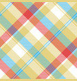 yellow plaid tartan seamless pattern vector image