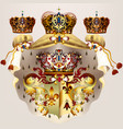 heraldic design with coat of arms crowns and vector image