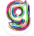 Colorful Font - Letter g vector image vector image