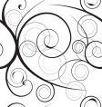 floral swirl background vector image