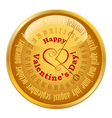 Valentines Day on calendar vector image vector image