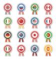 flag rosettes vector image vector image