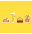 various american food items vector image