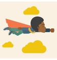Superhero black businessman vector image