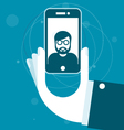 Taking a photo with smartphone - selfie vector image vector image