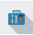 Tool box single icon vector image vector image
