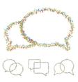 modern musical bubble speech set vector image vector image
