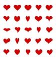 Big set of diffrent hearts vector image