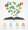 book infographic vector image