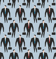 Businessman seamless pattern Manager in suit and vector image