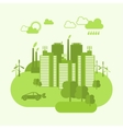 Eco Town Concept vector image