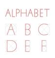 geometric font vector image