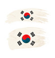 grunge brush stroke with south korea national flag vector image