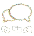 modern musical bubble speech set vector image