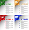 Options of colorful bent corners background vector image