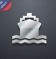 ship icon symbol 3D style Trendy modern design vector image