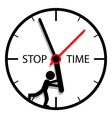 Stop time vector image