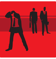 Businessman in trouble vector image