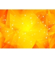Bright orange low poly communication background vector image vector image