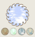 set of round stickers and labels with grunge vector image