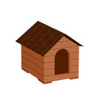 Wooden doghouse isolated icon vector image