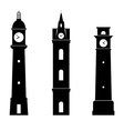 Clock towers vector image vector image
