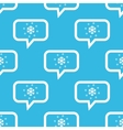 Snow message pattern vector image
