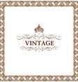 vector vintage decor frame ornament floral vector image