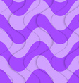 Retro 3D purple overlapping waves vector image