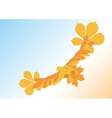 bird from autumn leaves vector image vector image