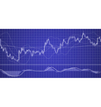 forex chart with indicator vector image