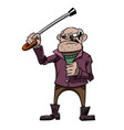 cartoon image of mean old man vector image