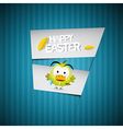 Easter Retro Blue Paper Cardboard Background with vector image