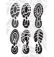 Footprint sport shoes vector image