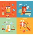 M-commerce And Shopping Icons Set vector image