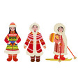 northern people in costumes vector image