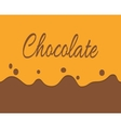trickling milk chocolate and label vector image
