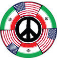 usa and iran flags or banner vector image