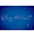 X-Mas Lettering Card with Snowflakes vector image