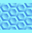 abstract background blue hexagons vector image