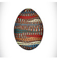 colorful easter egg vector image vector image