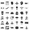 terminal icons set simple style vector image